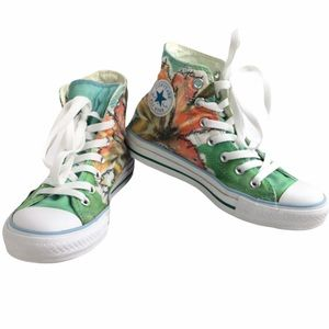 Converse All Star Floral High tops
